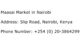 Maasai Market in Nairobi Address Contact Number