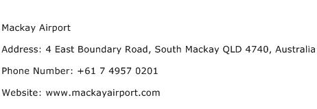 Mackay Airport Address Contact Number
