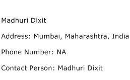 Madhuri Dixit Address Contact Number
