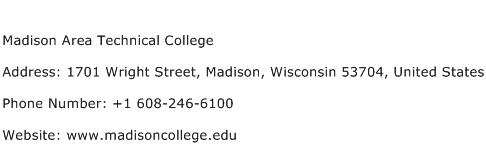 Madison Area Technical College Address Contact Number