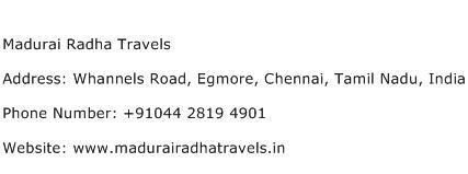 Madurai Radha Travels Address Contact Number
