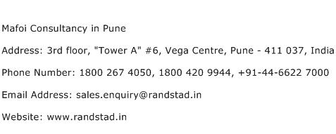 Mafoi Consultancy in Pune Address Contact Number