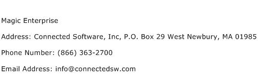 Magic Enterprise Address Contact Number