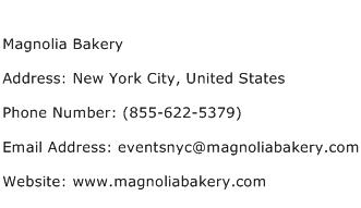 Magnolia Bakery Address Contact Number