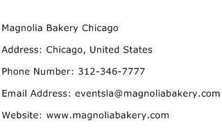 Magnolia Bakery Chicago Address Contact Number