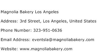 Magnolia Bakery Los Angeles Address Contact Number