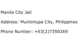 Manila City Jail Address Contact Number