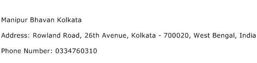 Manipur Bhavan Kolkata Address Contact Number