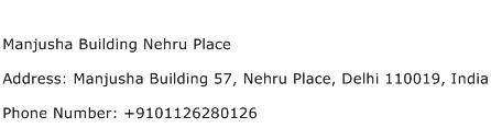 Manjusha Building Nehru Place Address Contact Number