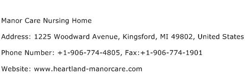 Manor Care Nursing Home Address Contact Number