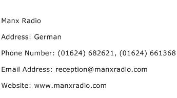 Manx Radio Address Contact Number