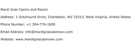 Mardi Gras Casino and Resort Address Contact Number