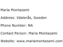 Maria Montazami Address Contact Number