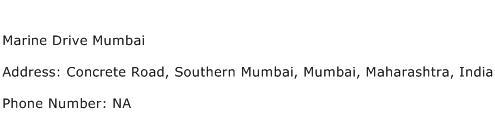 Marine Drive Mumbai Address Contact Number