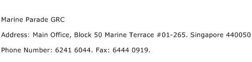 Marine Parade GRC Address Contact Number