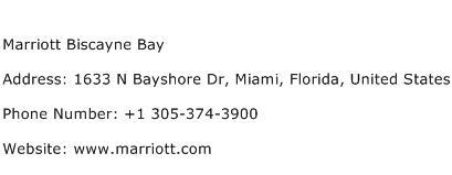 Marriott Biscayne Bay Address Contact Number