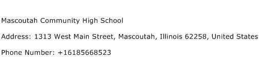 Mascoutah Community High School Address Contact Number