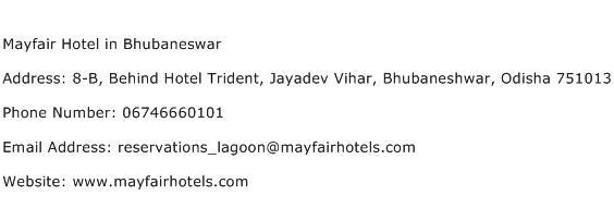 Mayfair Hotel in Bhubaneswar Address Contact Number