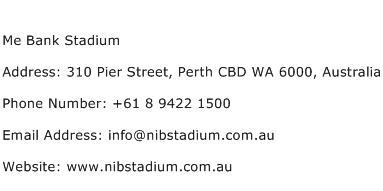 Me Bank Stadium Address Contact Number