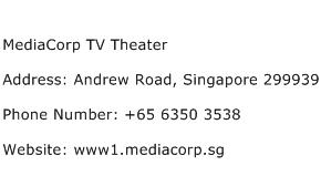 MediaCorp TV Theater Address Contact Number