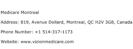 Medicare Montreal Address Contact Number