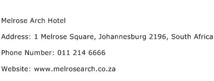 Melrose Arch Hotel Address Contact Number
