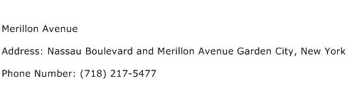 Merillon Avenue Address Contact Number
