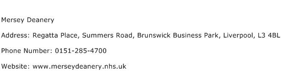 Mersey Deanery Address Contact Number