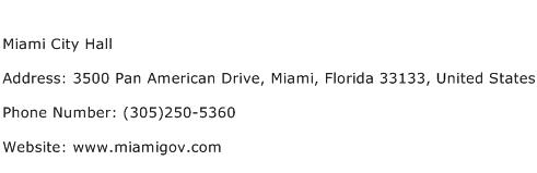 Miami City Hall Address Contact Number