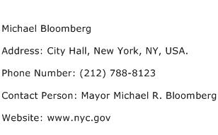 Michael Bloomberg Address Contact Number