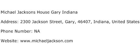 Michael Jacksons House Gary Indiana Address Contact Number