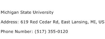 Michigan State University Address Contact Number