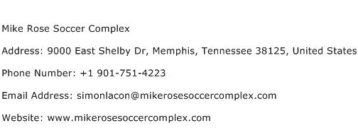 Mike Rose Soccer Complex Address Contact Number