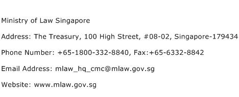 Ministry of Law Singapore Address Contact Number