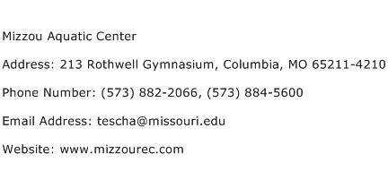 Mizzou Aquatic Center Address Contact Number