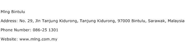 Mlng Bintulu Address Contact Number