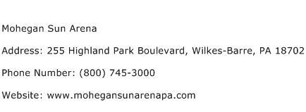 Mohegan Sun Arena Address Contact Number