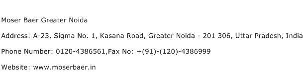 Moser Baer Greater Noida Address Contact Number