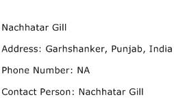 Nachhatar Gill Address Contact Number