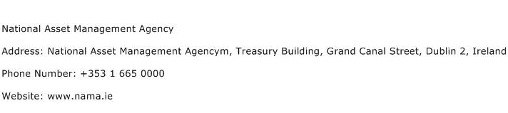 National Asset Management Agency Address Contact Number