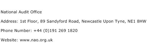 National Audit Office Address Contact Number