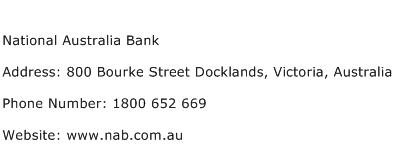 National Australia Bank Address Contact Number
