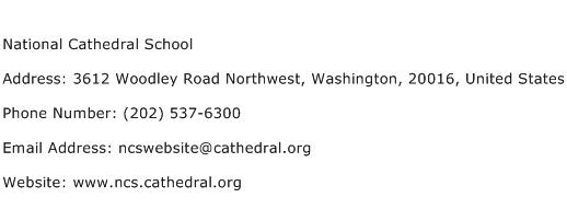 National Cathedral School Address Contact Number