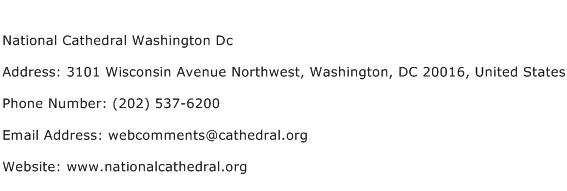 National Cathedral Washington Dc Address Contact Number