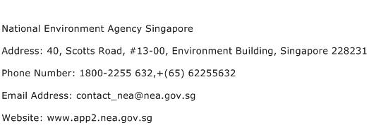 National Environment Agency Singapore Address Contact Number