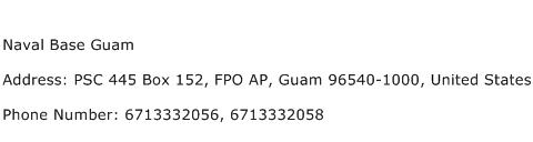 Naval Base Guam Address Contact Number