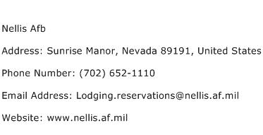 Nellis Afb Address Contact Number