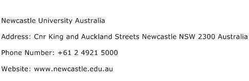Newcastle University Australia Address Contact Number