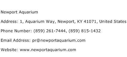 Newport Aquarium Address Contact Number