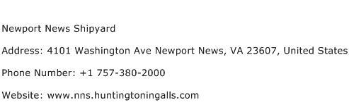 Newport News Shipyard Address Contact Number